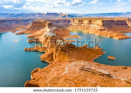 Lake Powell National Park Landscape Photos.