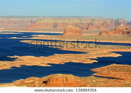 Lake Powell. View from Alstrom Point, Utah