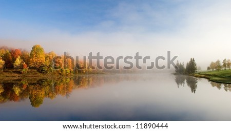 Lake Reflection - stock photo