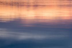 Lake reflection sunset