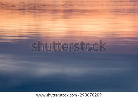 lake reflection sunset