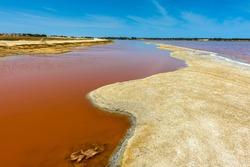 Lake Retba or Lac Rose, north of the Cap Vert peninsula of Senegal, north east of Dakar