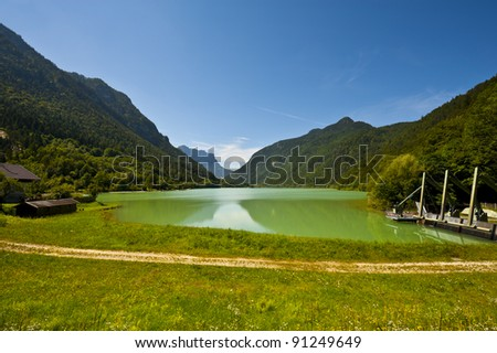 Lake Saalachsee in the Bavarian Alps
