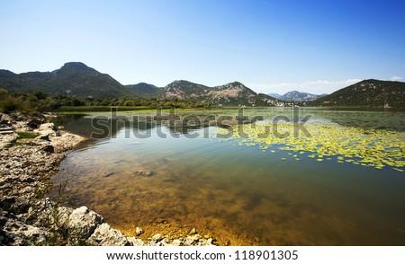 Lake Skadar .  Montenegro