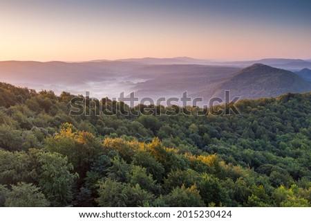 Lake Solina at sunrise, Solina, Polańczyk, Bieszczady, sunrise Zdjęcia stock ©