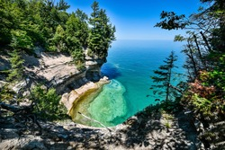 Lake Superior beach views from Michigan's upper peninsula