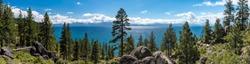 Lake Tahoe in famous California mountains National Park Sierra N