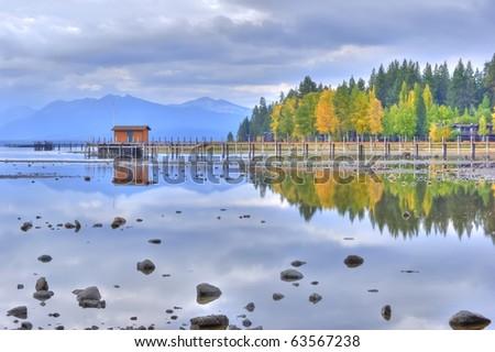 Lake Tahoe Reflection, High Dynamic Range
