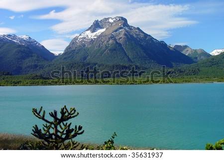 Lake Tronador, in Patagonia, Argentina - stock photo