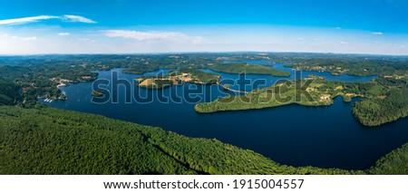 Lake Vassivière - Creuse - Haute Vienne - France Photo stock ©
