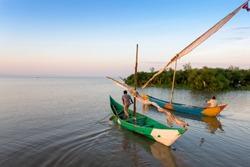 Lake victoria fishermen go to work