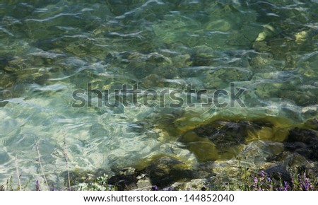 Lake water abstract background