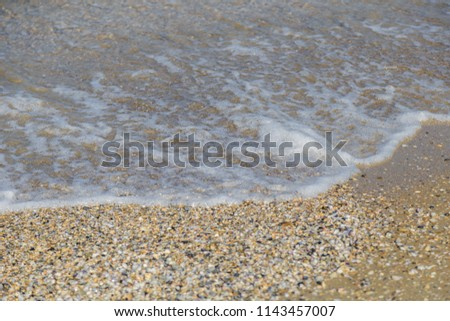 lake water surface with small...