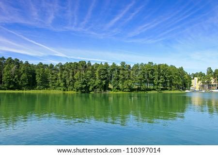 Lake White Augustowskie. Augustow. Poland