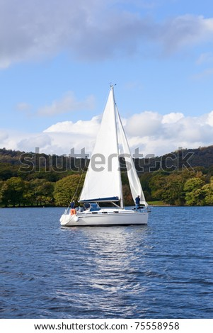 Lake Windermere in Lake District National Park Cumbria England