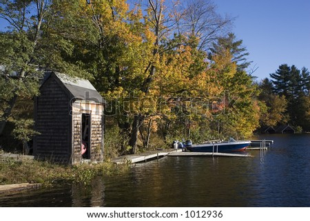 Lake Winnepesauke shed