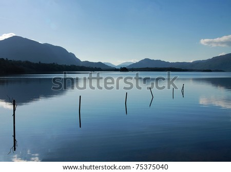 Lake with mountains in Killarney, Ireland