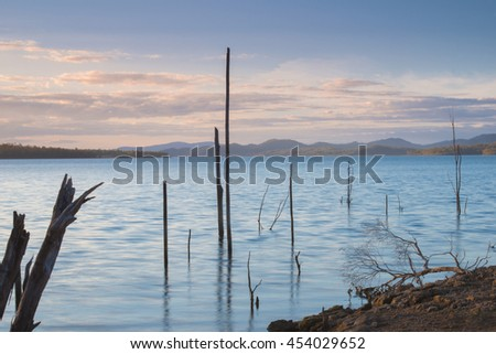 Stock Photo Lake Wivenhoe in Queensland during the day. Apart of Wivenhoe Dam.