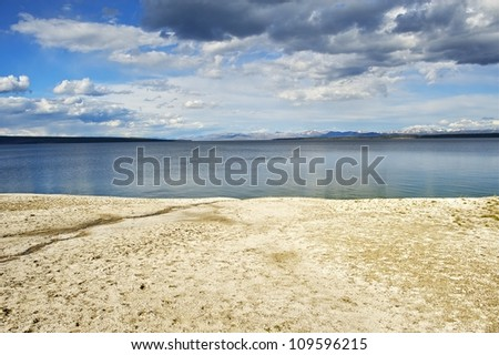 Lake Yellowstone Scenery - West Thumbs. Wyoming USA. Yellowstone Photography Collection
