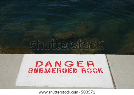 Lakefront Danger Sign