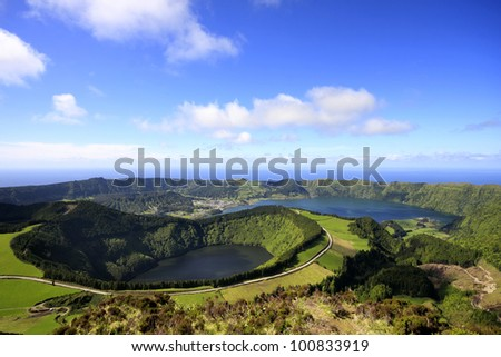 Lakes of Santiago and 7 cidades - Azores/Portugal