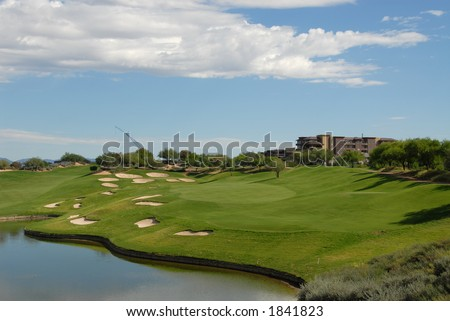 Lakeside golf hole, Scottsdale, Arizona