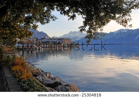 Lakeside of Geneva lake