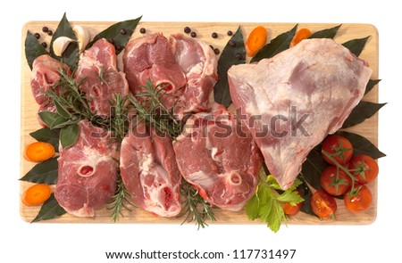 Lamb, thigh slices