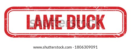 LAME DUCK red grungy rectangle stamp sign. Photo stock ©