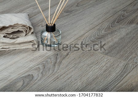 Laminate background. Wooden laminate and parquet boards for the floor in interior design. Texture and pattern of natural wood. Photo stock ©