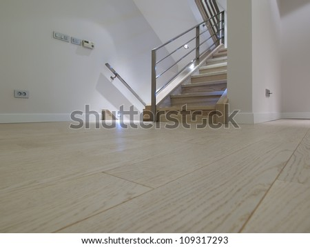 Laminate Floor In Modern Apartment Stock Photo 109317293 ...
