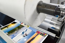 lamination machine laminating offset print roll with plastic foil