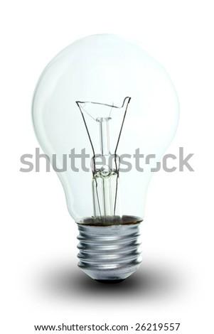 lamp bulb on white