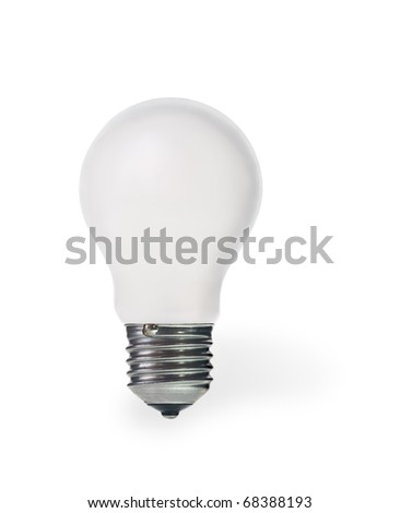 lamp bulb with clipping path isolated over white