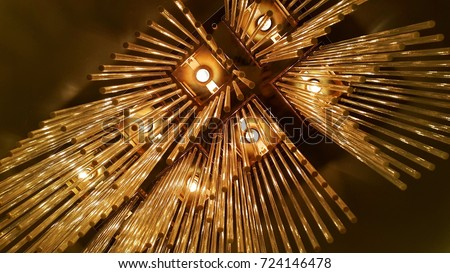 Lamp decoration abstract art
