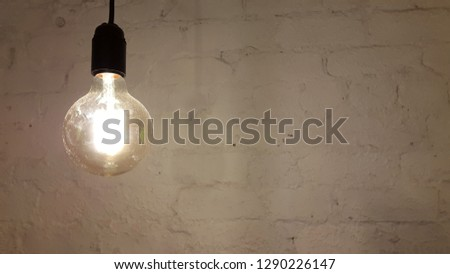 Lamp. Decorative incandescent lamp