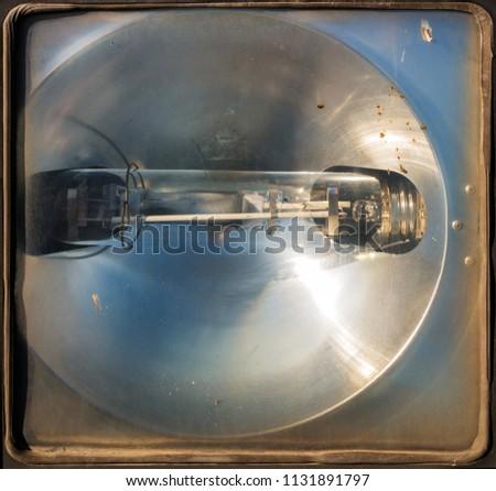 Lamp in the spotlight in the spotlight. Background #1131891797
