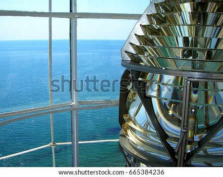 Lamp inside a sea lighthouse #665384236
