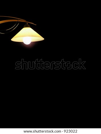 Lamp isolated on black