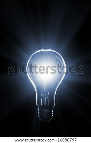 lamp isolated on black background