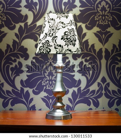 Lamp lampshade bedroom interior decor