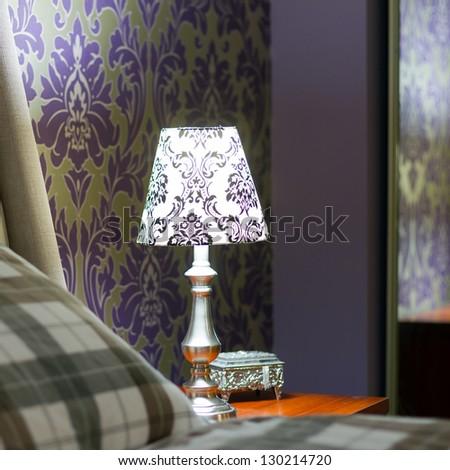 Lamp lampshade bedroom interior decor
