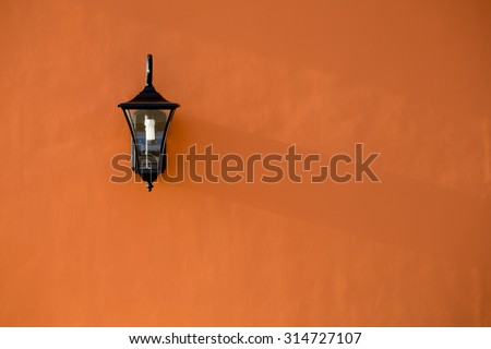 lamp light on the wall