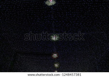 lamp of star,light of star,Tunnel of light,Star Wall in the night,Christmas festival,Christmas light,  #1248457381