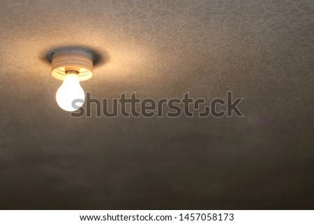 lamp on the ceiling. obsolete lamp and ceiling #1457058173