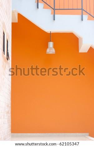 lamp & orange wall
