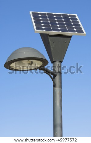 lamp post and photovoltaic panel