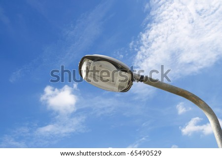 lamp post electricity industry - stock photo