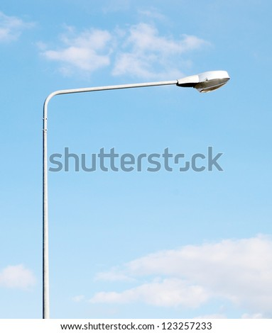 lamp post electricity industry with blue sky