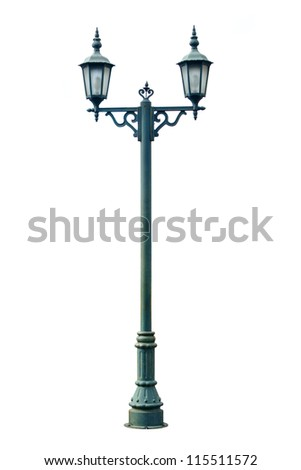 Lamp Post Lamppost Street Road Light Pole isolated